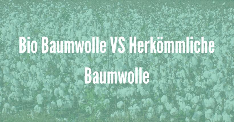 Es gibt viele Beispiele warum Bio Baumwolle besser ist als herkömmliche Baumwolle